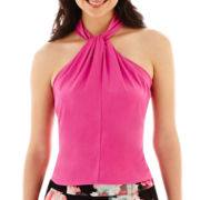 Worthington® Sleeveless Twist-Front Halter Top