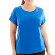 Xersion™ Mesh Pieced Tee - Plus