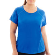 Xersion™ Back Mesh Pieced Tee - Plus