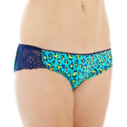 Flirtitude® Lace-Accented Bikini Panties
