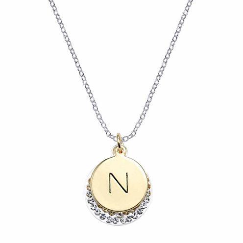 Sparkle Allure Silver Over Brass Pendant Necklace