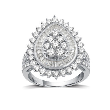 jcpenney.com | Womens 2 CT. T.W. White Diamond 10K Gold Cocktail Ring