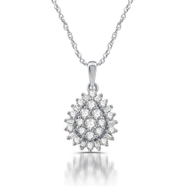 jcpenney.com | Diamond Blossom Womens 1/2 CT. T.W. White Diamond 10K Gold Pendant Necklace