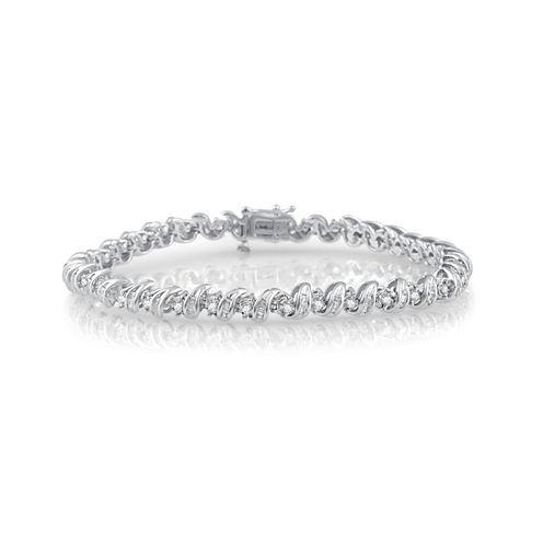 Womens 2 CT. T.W. White Diamond 10K Gold Tennis Bracelet