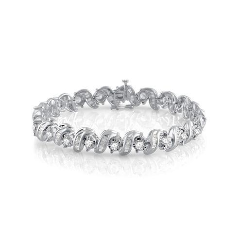 Womens 5 CT. T.W. White Diamond 10K Gold Tennis Bracelet
