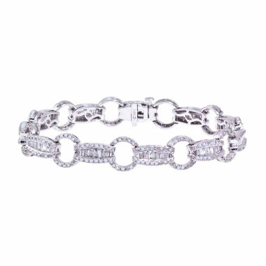 jcpenney.com | 3 CT. T.W. Diamond 14K White Gold Link Bracelet
