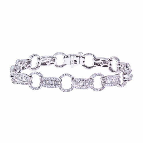 3 CT. T.W. Diamond 14K White Gold Link Bracelet