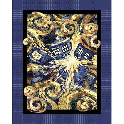 Doctor Who Expelled Tardis Fleece Throw