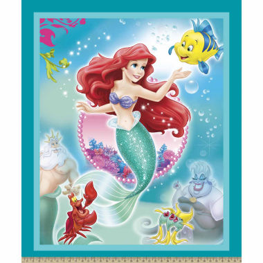 jcpenney.com | Disney Little Mermaid Panel Cotton Fabri