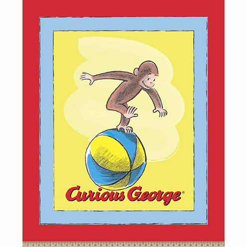 Curious George Panel Cotton Fabric