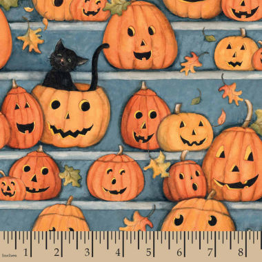 jcpenney.com | Halloween Pumpkin Stares Panel Fabric
