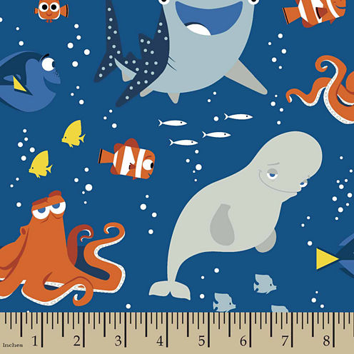 Disney Finding Dory And Friends Fabric By The Yard