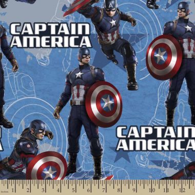 jcpenney.com | Captain America Star Cotton Fabric By The Yard