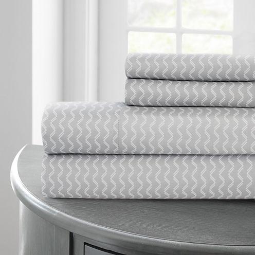 Pacific Coast Textiles Chevron Microfiber WrinkleResistant Sheet Set