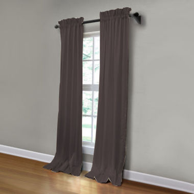 jcpenney.com | JCPenney Home Made-To-Length Matte Satin Rod-Pocket Poly-Cotton Lined Curtain Panel