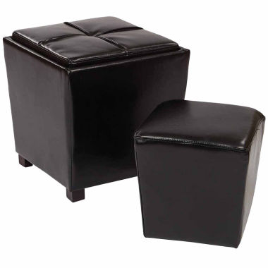 jcpenney.com | Oak Hill Bonded Leather 2-pc. Ottoman