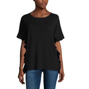 jcpenney.com | Worthington Short Sleeve Crew Neck Pullover Sweater