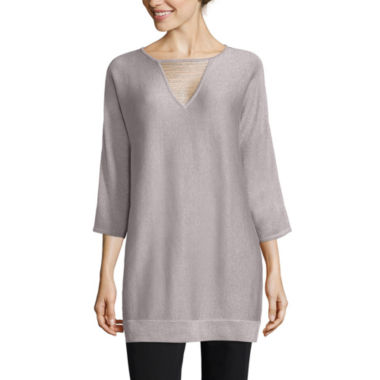 jcpenney.com | By Artisan Long Sleeve V Neck Pullover Sweater