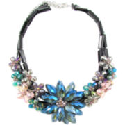 Pannee Multicolored Crystal Flower Necklace