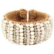 Pannee White Crystal Rope Bracelet