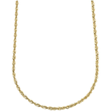 "jcpenney.com | 10K Yellow Gold Hollow 20"" Rope Chain"
