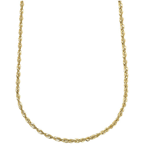 "10K Yellow Gold Hollow 20"" Rope Chain"