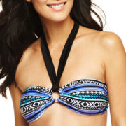 Ocean Dreams® Tribal Print Bandeau Swim Top