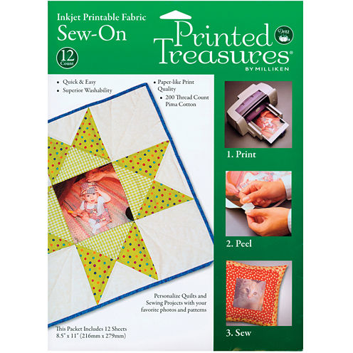 Printed Treasures Sew-On Ink Jet Fabric Sheets