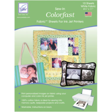 jcpenney.com | Colorfast Sew In Inkjet Fabric Sheets