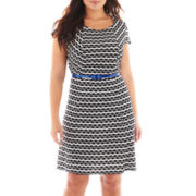 Trulli Belted Eyelet Dress - Plus