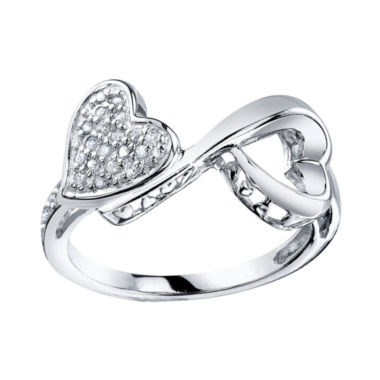 jcpenney.com | Love Grows™ 1/10 CT. T.W. Diamond Double Heart Ring