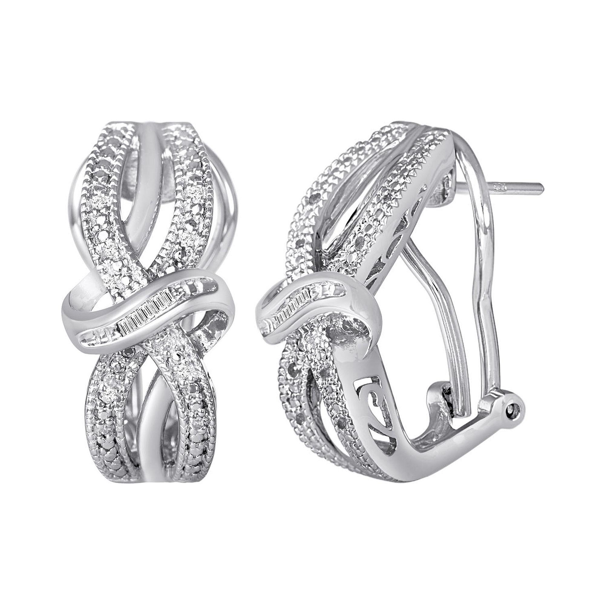 1/10 CT. T.W. Diamond Vintage Earrings plus size,  plus size fashion plus size appare