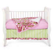 My Baby Sam Pink Paisley Splash 3-pc. Baby Bedding