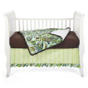 My Baby Sam Lime Paisley Splash 3-pc. Baby Bedding