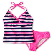 Breaking Waves Striped 2-pc. Swimsuit – Girls 7-16 and Plus