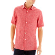 Claiborne Short-Sleeve Linen-Cotton Shirt
