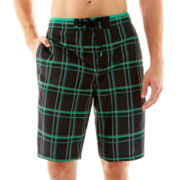 Speedo® Classic Plaid Swim Trunks