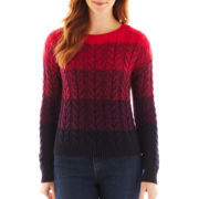 Liz Claiborne Long-Sleeve Ombre Sweater - Tall
