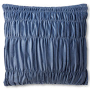 Design by Conran Cotton Velvet with Shirring Square Decorative Pillow