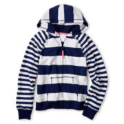 Arizona Striped French Terry Hoodie - Girls 6-16 and Plus