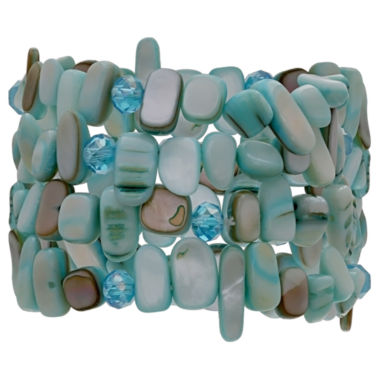 jcpenney.com | Mixit Womens Aqua 4 Row Stretch Bracelet