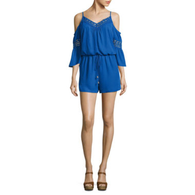 jcpenney.com | City Triangle 3/4 Sleeve Romper-Juniors