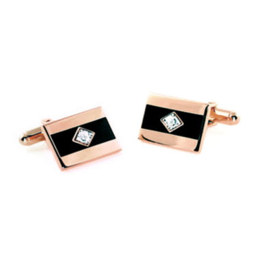 jcpenney.com | Diamond Accent Epoxy Cufflinks Plated 14K Pink Gold