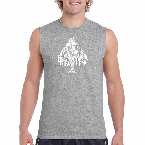 Los Angeles Pop Art Order of winning Sleeveless Crew Neck T-Shirt-Big and Tall