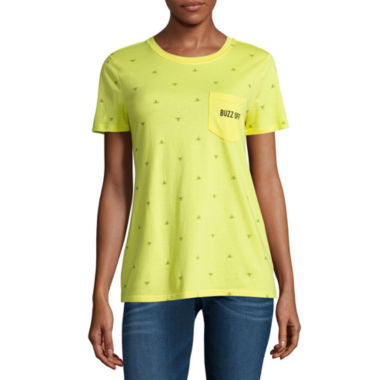 "jcpenney.com | Arizona ""Buzz off"" or ""Food all over print"" Graphic T-Shirt- Juniors"