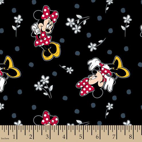 Disney Minnie Flowers Cotton Fabric