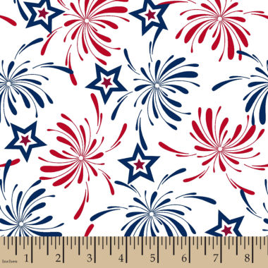 jcpenney.com | Patriotic Fireworks Cotton Fabric