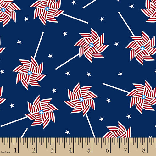Patriotic Pinwheel Cotton Fabric
