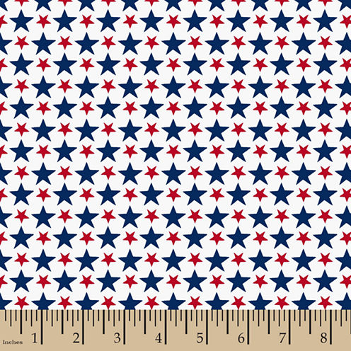Patriotic Packed Stars Cotton Fabric