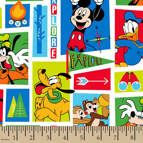 Disney Mickey Friends Exploring Fabric